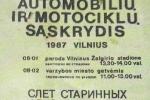 1987 Senovinių automobilių sąskrydis